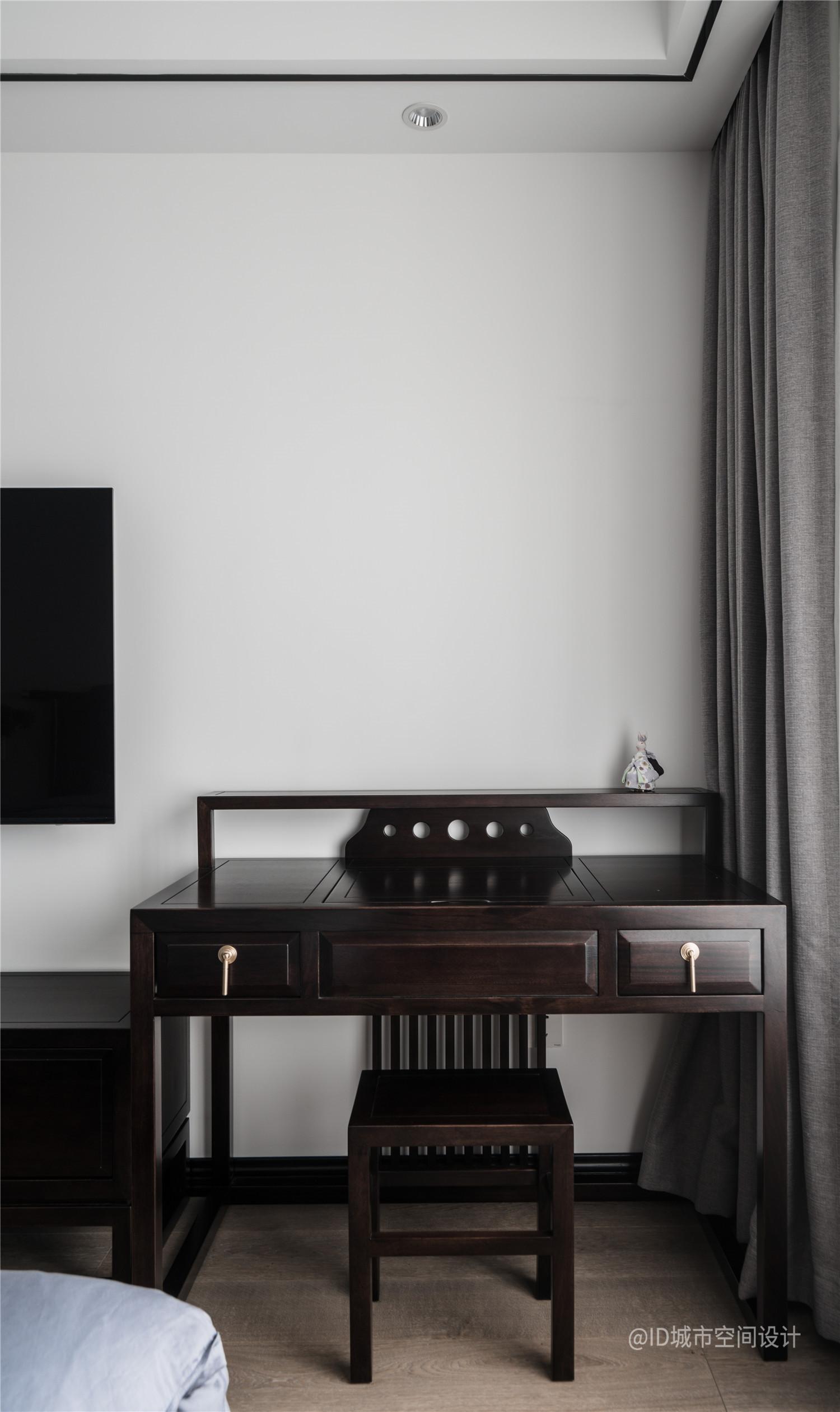 新中式风三居室装修梳妆台设计图