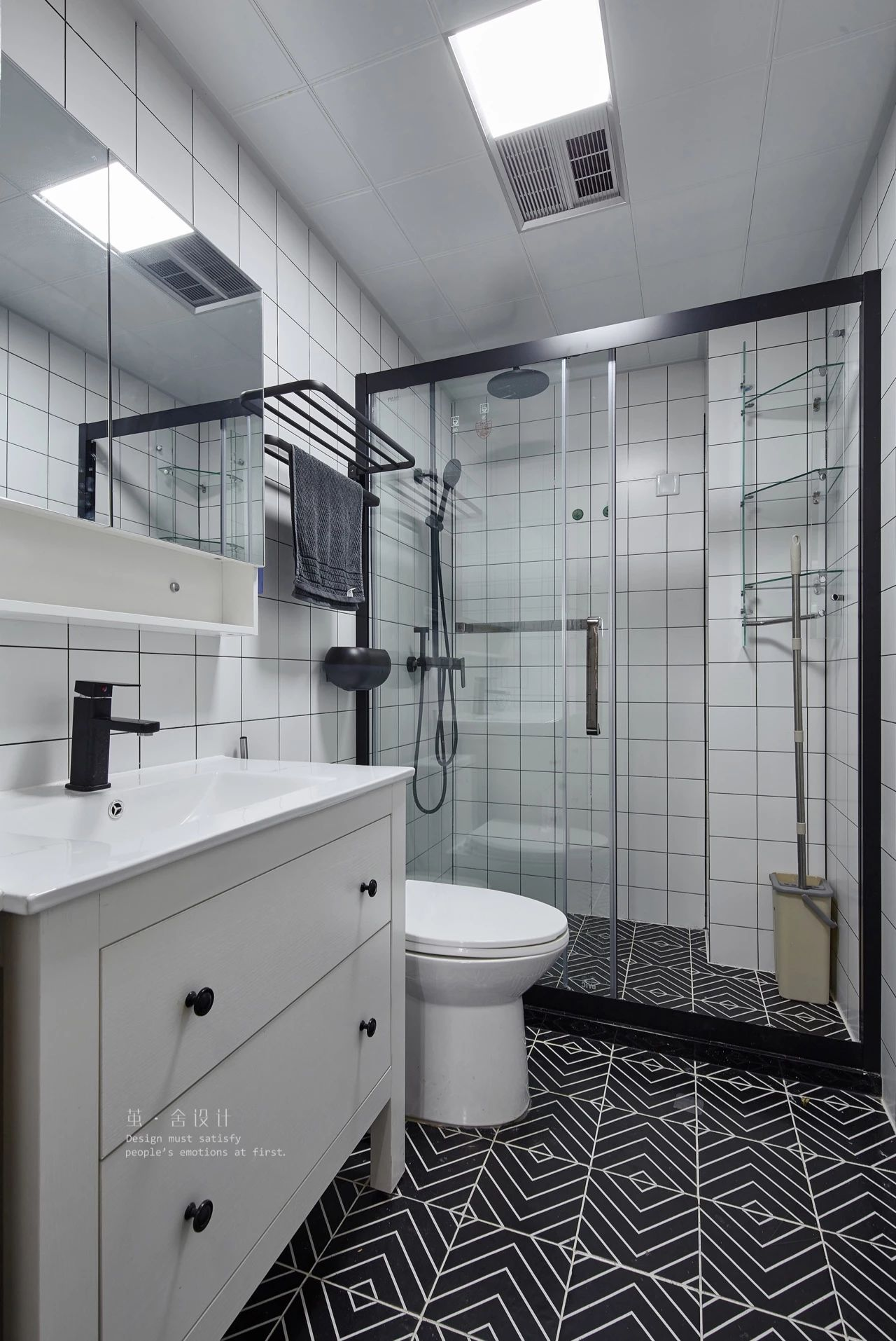 北欧风格三居卫生间装修效果图