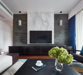 200㎡现代风格电视背景墙装修效果图