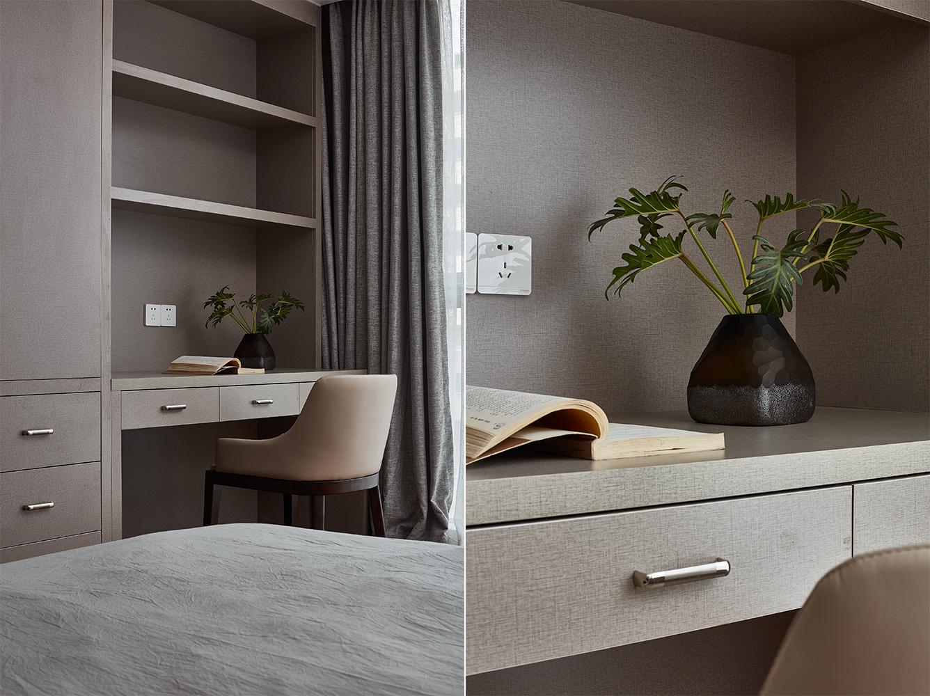 200㎡现代风格装修书桌设计图
