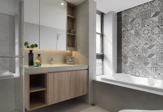 现代风三居室卫生间装修效果图