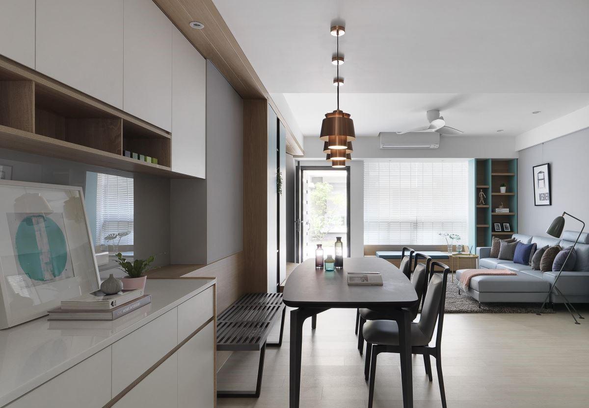 现代风三居室餐厅装修效果图