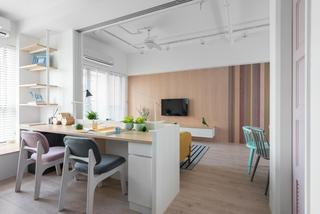 100㎡现代北欧风装修书桌设计图