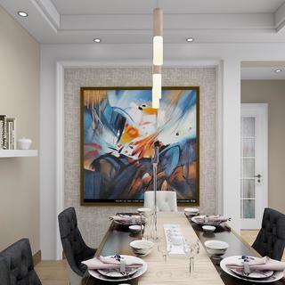 现代混搭二居室装修效果图