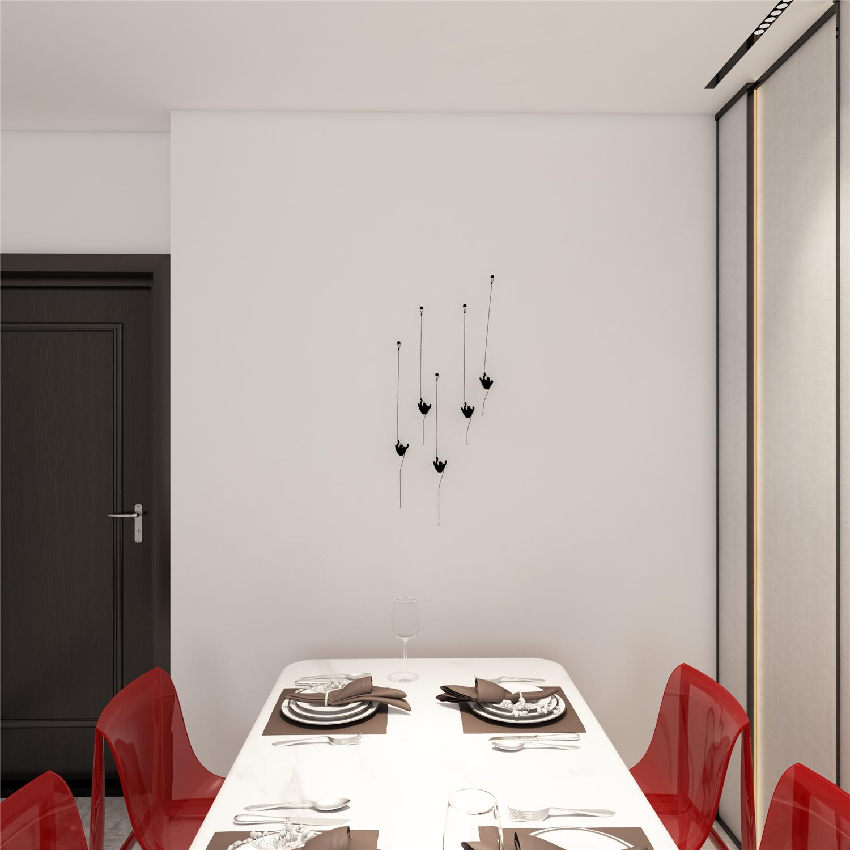 80㎡现代简约餐厅装修效果图