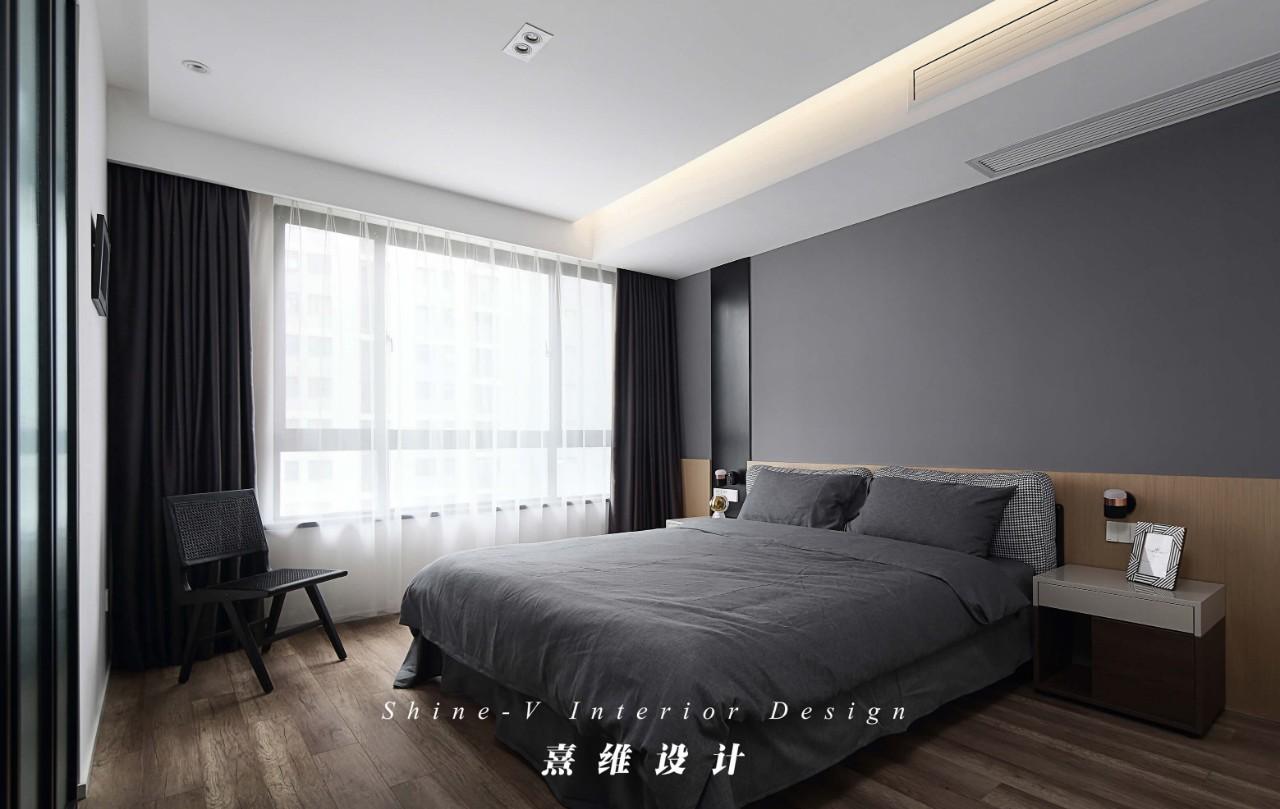 110㎡简约现代卧室装修效果图