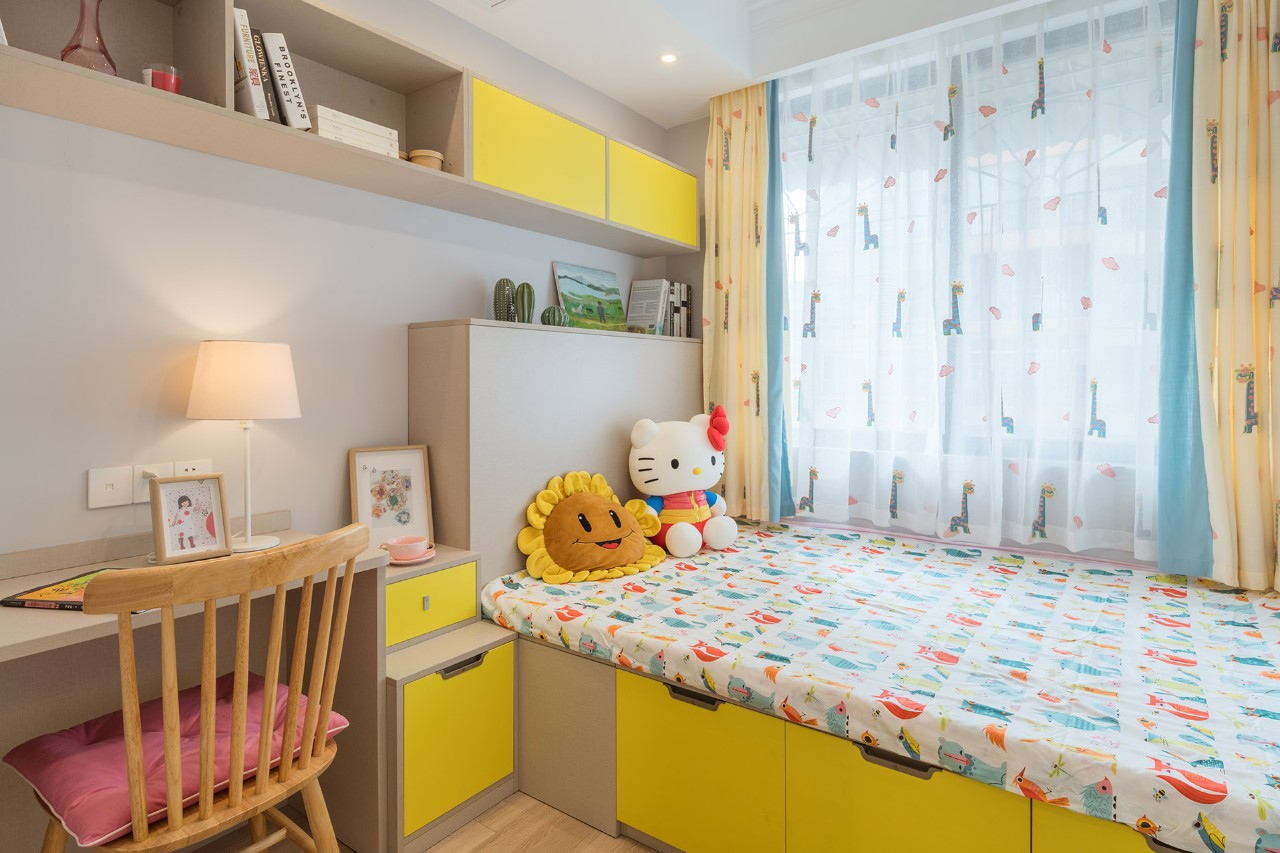 66平小户型两居榻榻米儿童房装修效果图