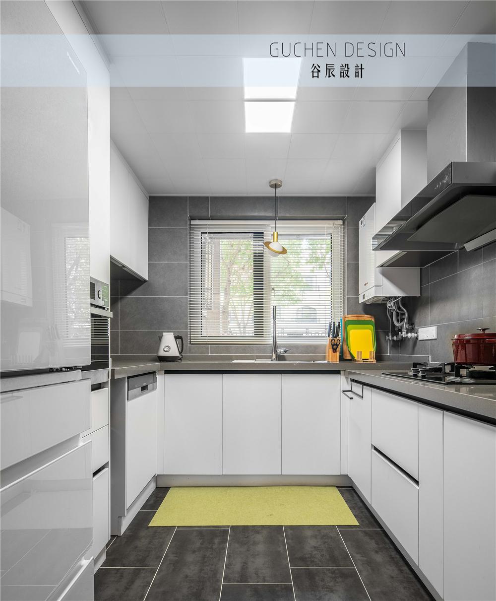 125㎡现代简约复式装修厨房效果图