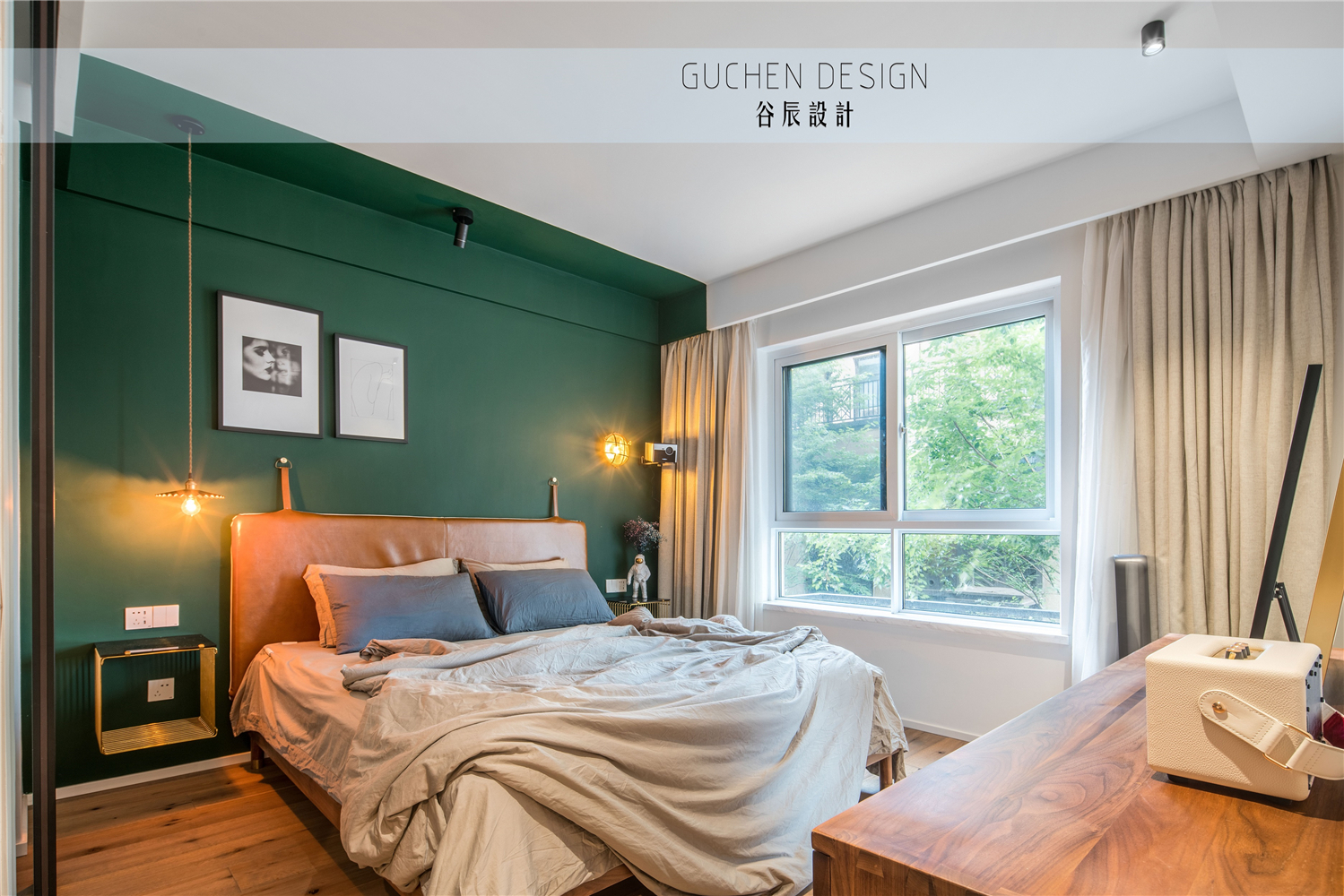 125㎡现代简约复式装修卧室效果图