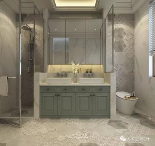现代美式别墅卫生间装修效果图