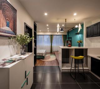 39㎡小户型公寓吧台装修效果图