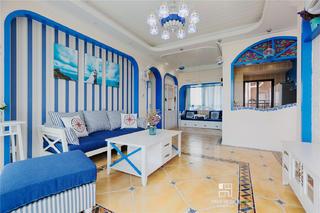 115㎡地中海风格客厅装修效果图