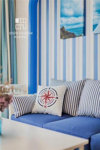 115㎡地中海风格装修沙发抱枕特写