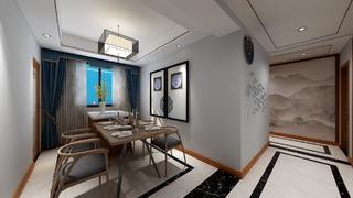 130平新中式风餐厅装修效果图