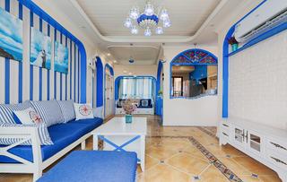 地中海风格三居客厅装修效果图