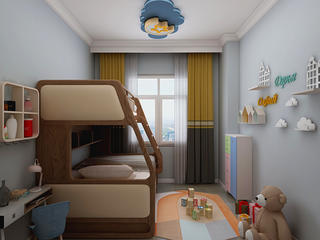 北欧风格三居室儿童房装修效果图