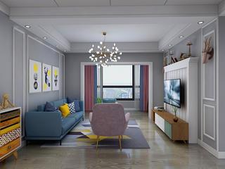 北欧风格三居室客厅每日首存送20