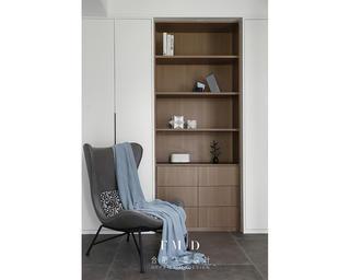 130㎡现代简约风格装修收纳展示柜设计