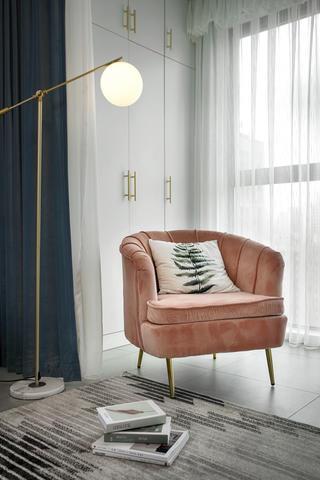 80平北欧风格装修单人沙发椅设计