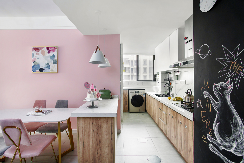 80平北欧风格厨房装修效果图