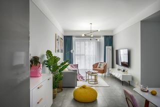 80平北欧风格客厅装修效果图