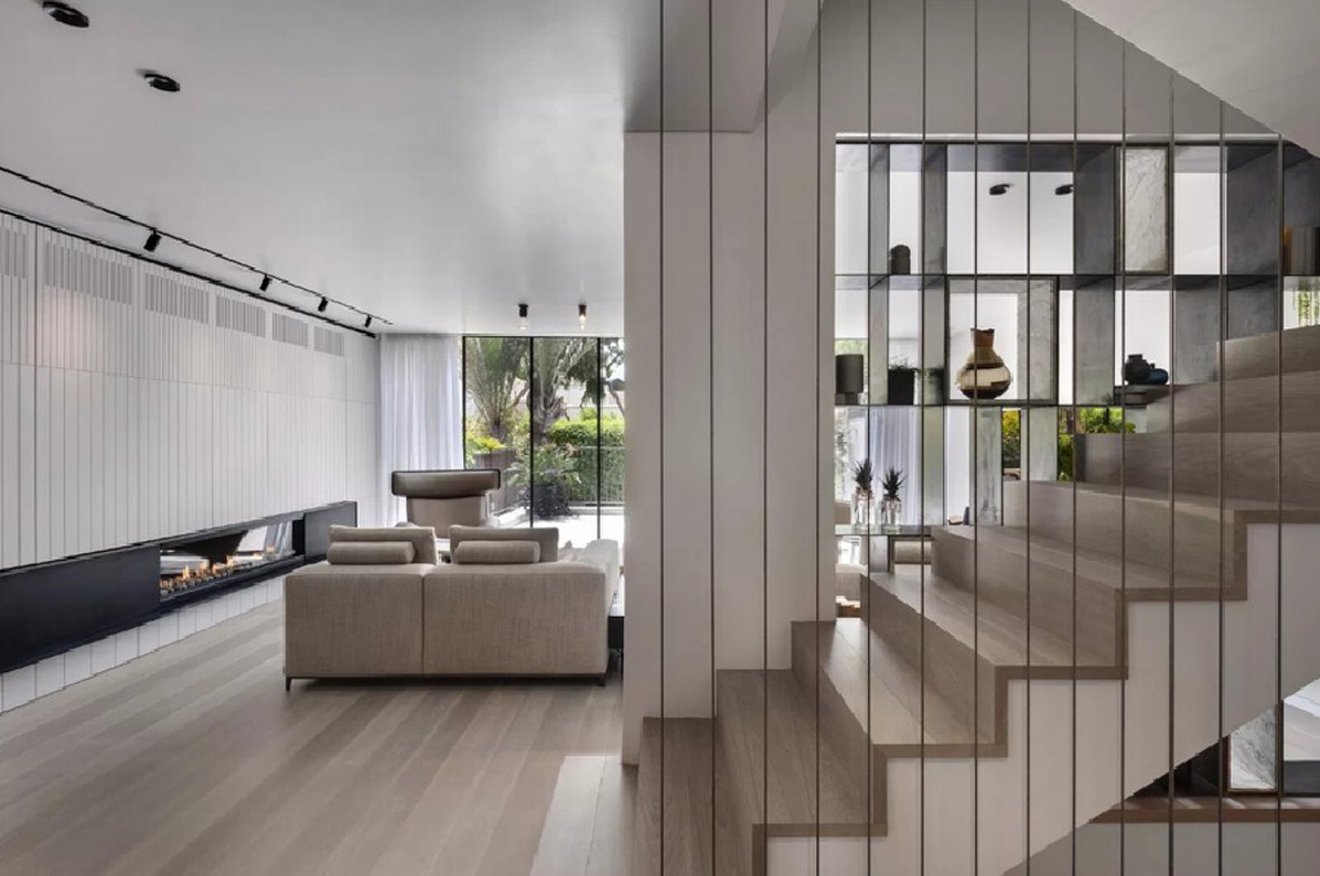大户型黑白灰现代简约楼梯装修效果图