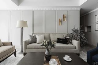 145㎡现代混搭三居沙发背景墙装修效果图