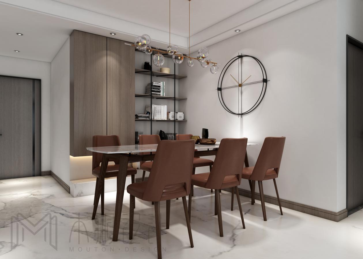 北欧现代二居室餐厅装修效果图