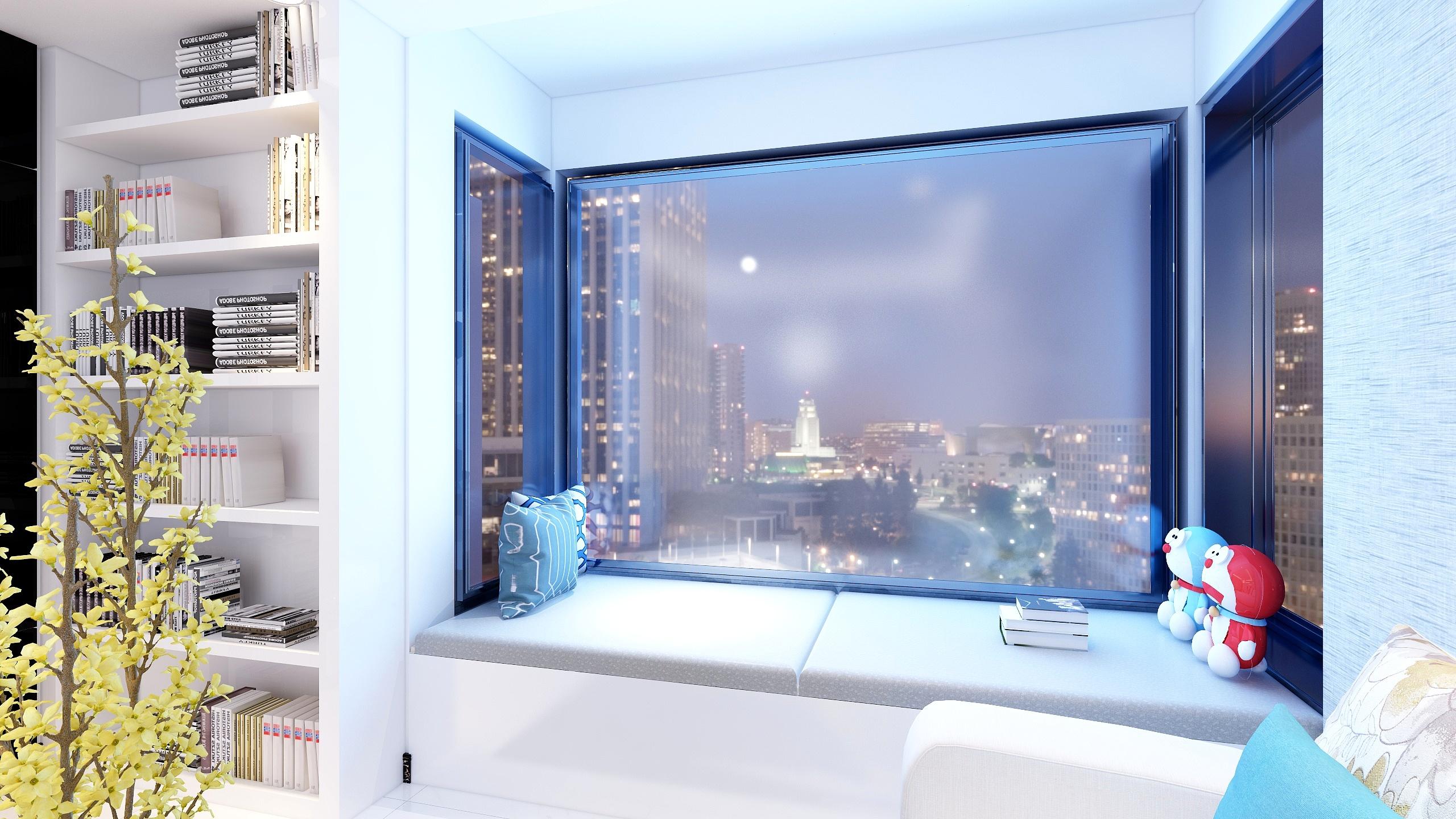 现代风三居室飘窗装修效果图