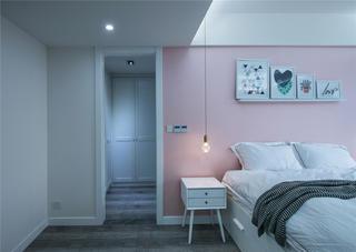 126㎡北欧风格装修床头柜设计