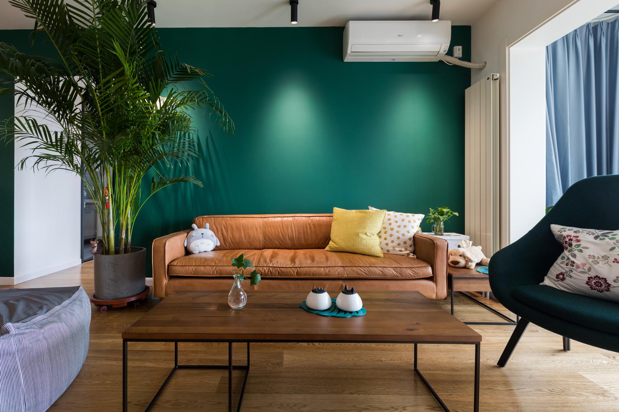 北欧风二居室沙发背景墙装修效果图