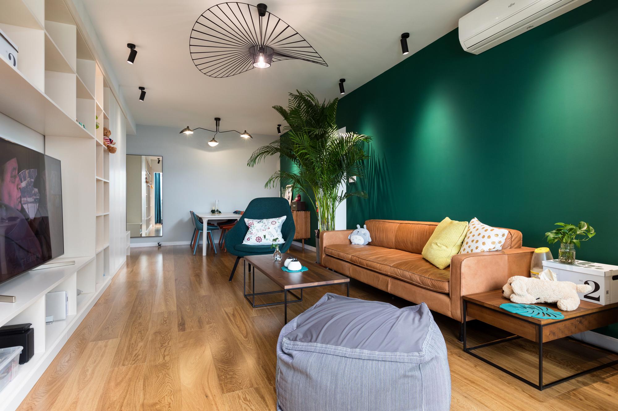北欧风二居室客厅装修效果图