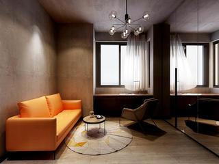 工业风格两居室书房装修效果图