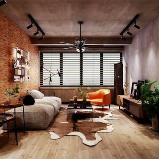 工业风格两居室装修效果图