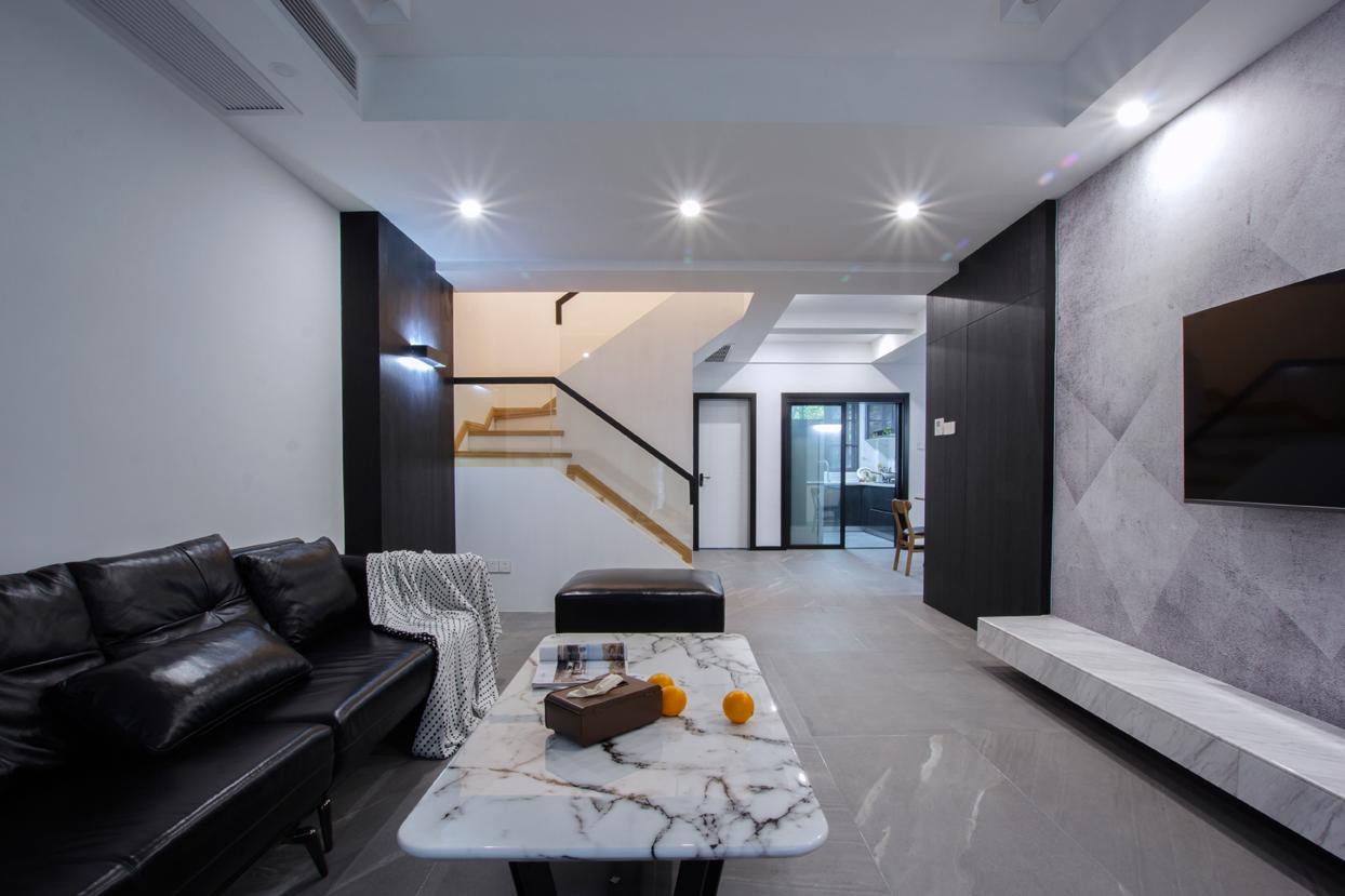 现代简约复式装修客厅效果图