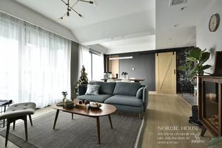 130平北欧风格客厅装修效果图
