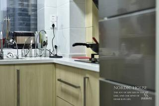 130平北欧风格装修厨房一角