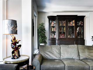 大户型法式风格装修沙发书柜设计