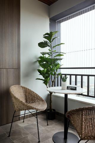 三居室现代混搭风阳台装修效果图