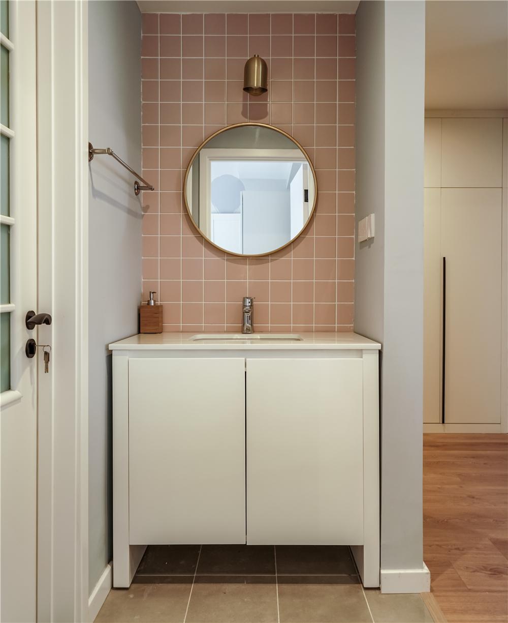 北欧风格三居室洗手台装修效果图
