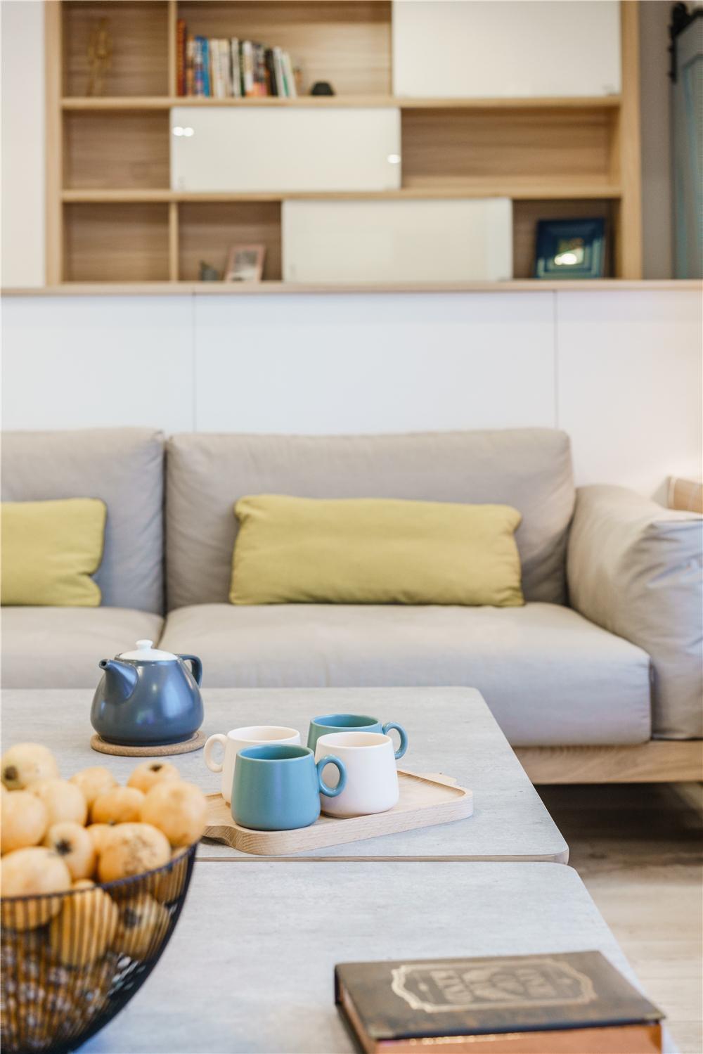 日式北欧风三居装修客厅小景