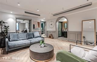 85平米两居室客厅装修效果图