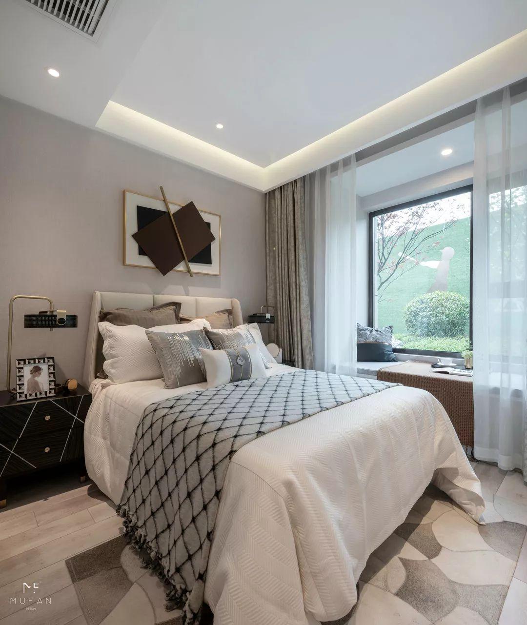 116㎡现代四居卧室装修效果图