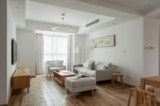 日式风格四居室客厅装修效果图