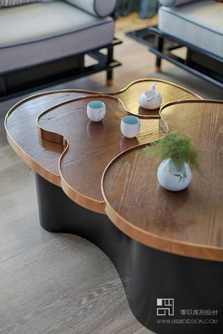125㎡新中式风格装修茶几设计图