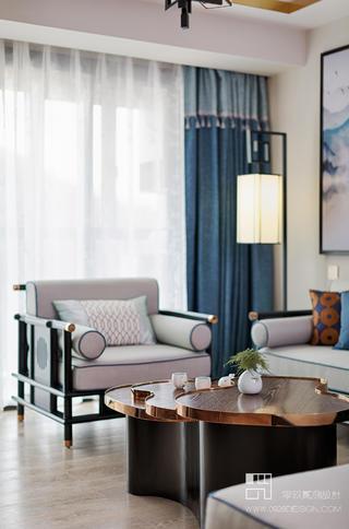 125㎡新中式风格装修客厅小景