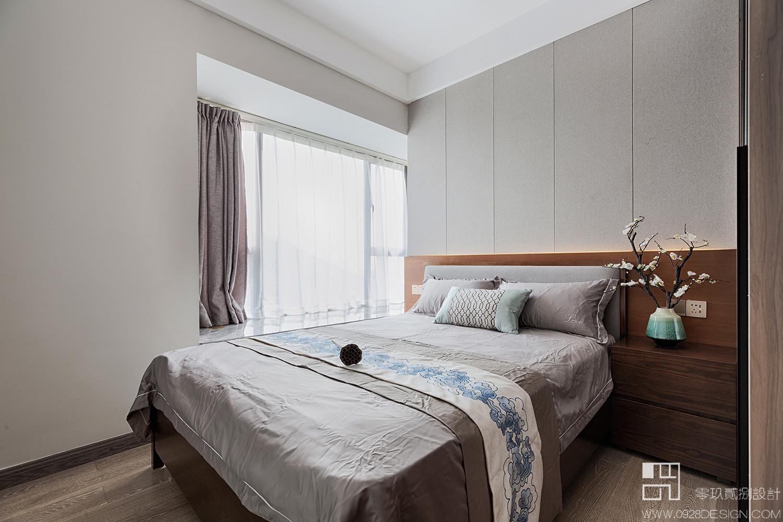 125㎡新中式风格卧室装修效果图