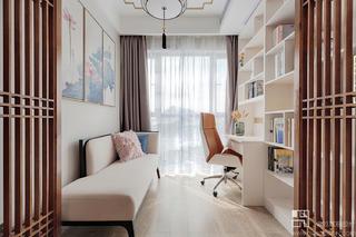125㎡新中式风格书房装修效果图