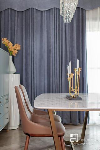 125㎡现代轻奢风装修餐桌椅设计图