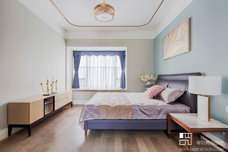 125㎡现代轻奢风卧室装修效果图
